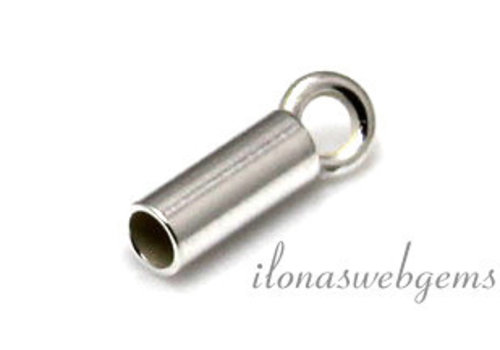 Sterling silver end cap 1.7mm
