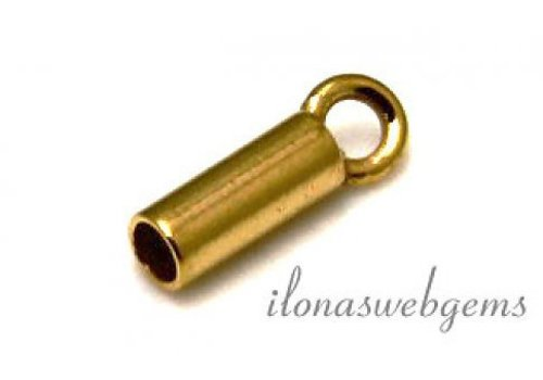 Vermeil end cap 1.7mm