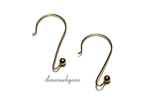 1 pair of ear hooks Vermeil