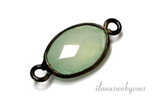 1 stuk sterling zilveren connector met Chalcedoon