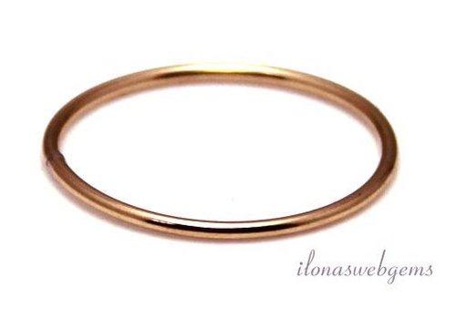 Rose Gold geschlossenes Auge / Ring um 17x1mm gefüllt