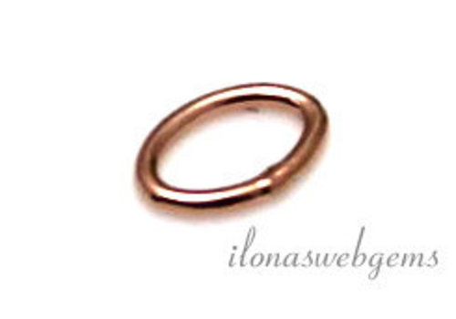 10 pieces Rosé 14k / 20 Gold filled eye closed oval approx 5x3.5x0,6mm