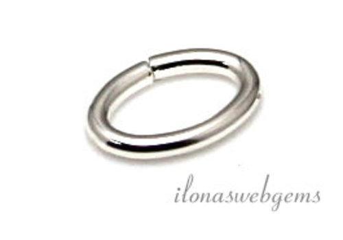 1x Sterling zilveren ovaal lock-in oogje ca. 9.5x6.5x1.3mm