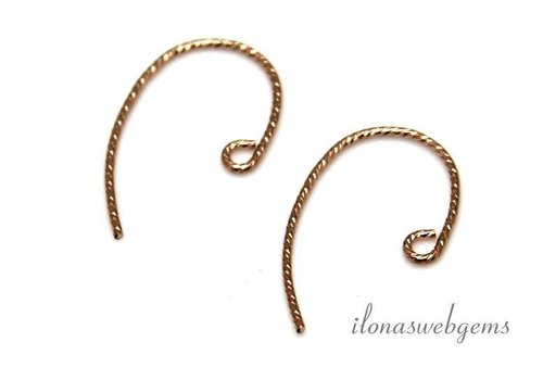 1 pair of rose gold filled ear hooks