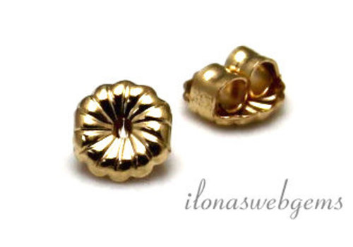 1 pair of gold filled poussettes