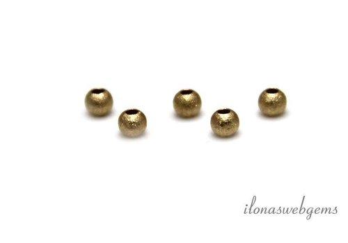 6 stuks 14k/20 Gold filled startdust kraaltje ca. 2mm