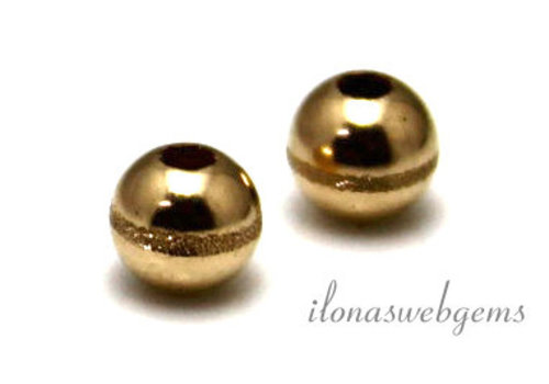 14k/20 Gold filled kraal bewerkt ca. 5mm