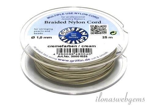 Griffin nylon koord crème - 25m
