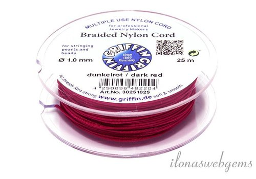 Griffin nylon cord dark red
