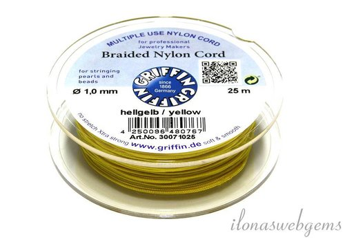Griffin nylon koord geel 25m