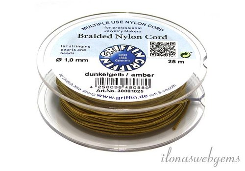 Griffin nylon cord dark yellow