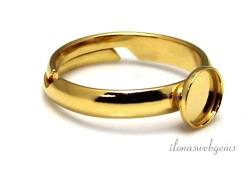 Vermeil ring voor cabochon 6mm