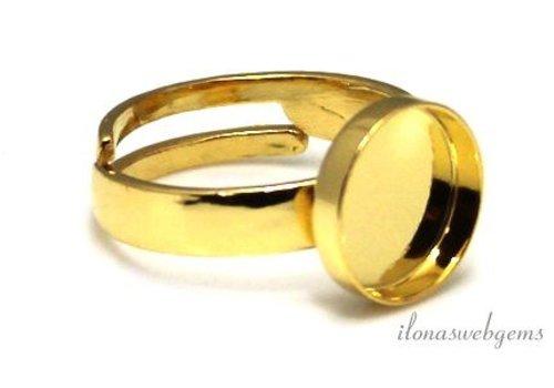 Vermeil ring cabochon 10mm
