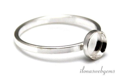 Sterling zilveren ring voor cabochon 6mm