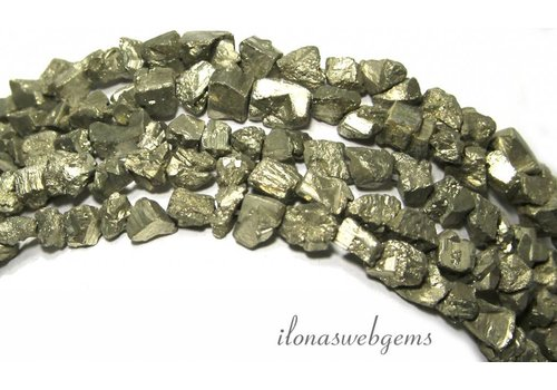 Pyrite beads rough approx. 5-7mm