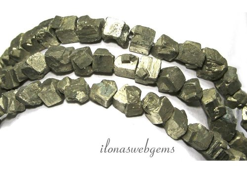 Pyriet kralen vierkant rough ca. 7-10mm