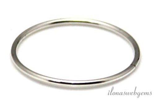 Sterling Silber geschlossen Auge / Ring um 21.5x1mm
