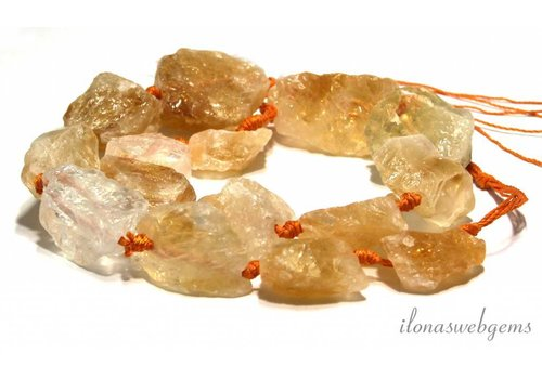 Citrine beads rough about 25x10-31x18mm