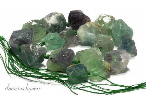 Fluorite beads rough about 15-30mm