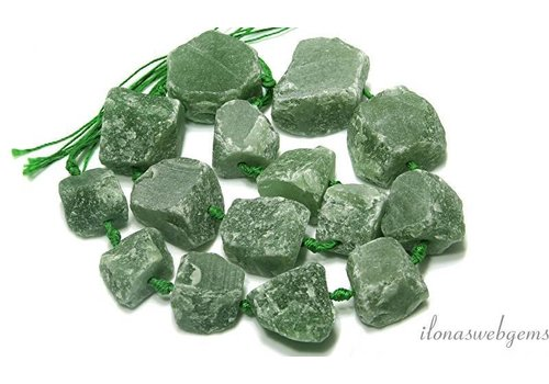Aventurine beads rough approx. 12-30mm