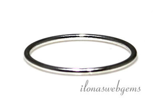 Sterling zilveren ring 15mm