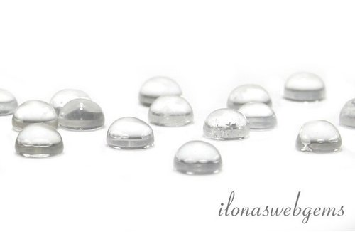 Rock crystal cabochon 8mm