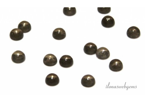 Smoky quartz cabochon 8mm