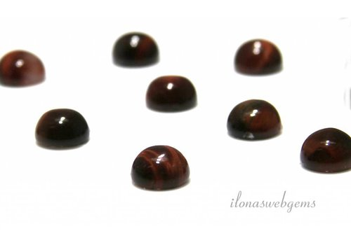 Red Tiger Eye cabochon 8mm