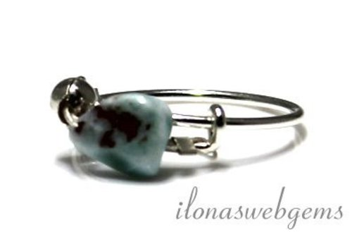 Inspirational Ring Sterling Silver, Larimar