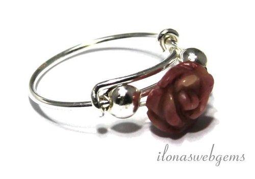 Inspiration Ring: Sterling silver, rose Rhodoniet