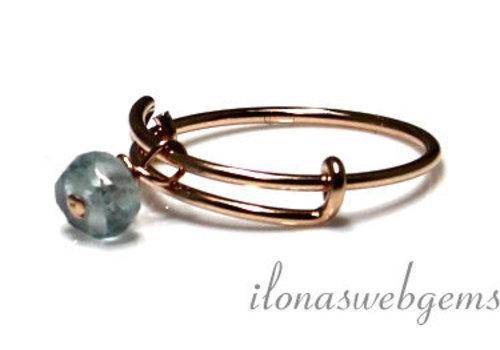 Inspiratie ring: 14k/20 Rosé gold filled, Aquamarijn