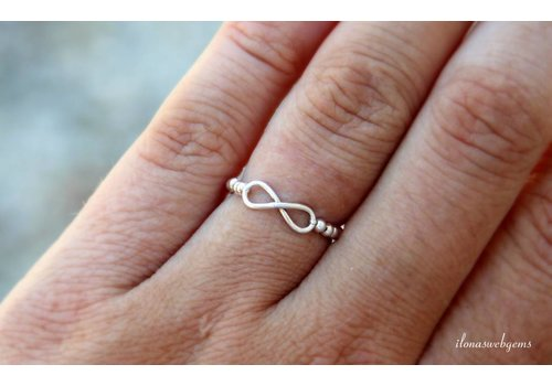 Inspirational Ring Sterling Silver Infinity Connector
