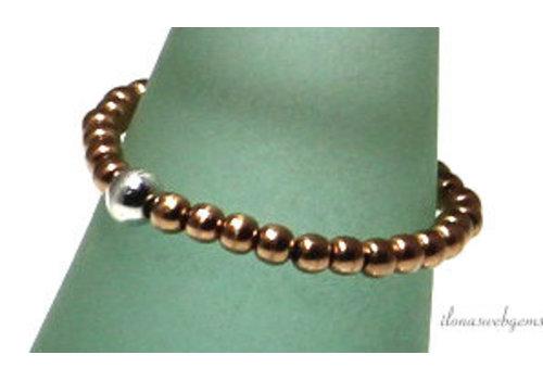 Inspiratie ring: 14k/20 rosé gold filled, sterling zilver, spacers