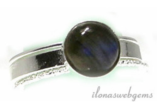 Inspiration Ring: Sterling silver, Labradorite cabochon 8mm