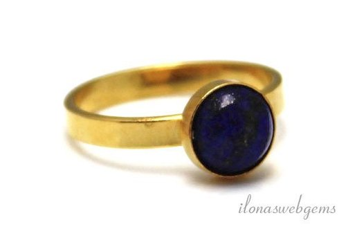 Inspiration Ring: Vermeil, Lapis Lazuli cabochon 8mm