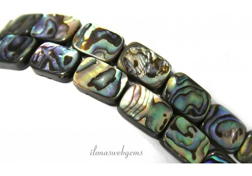 Abalone beads approx 14x10x4mm
