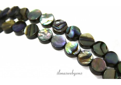Abalone beads coin approx 8x3mm