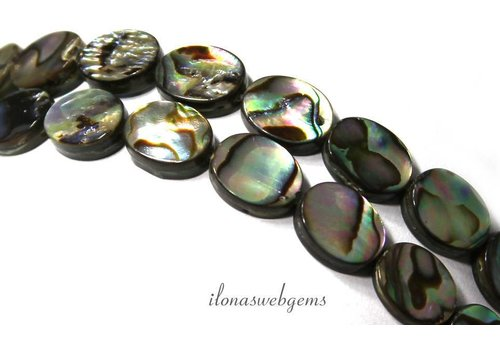 Abalone oval beads approx 10x8x3mm