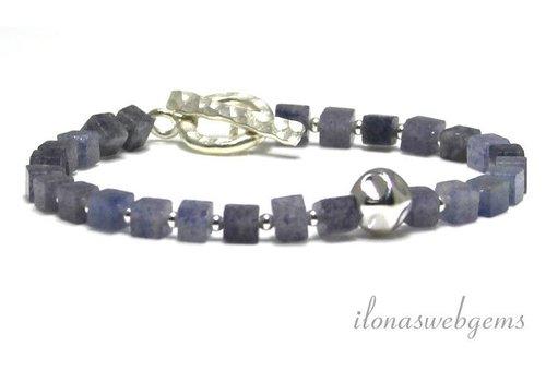 Inspiration Armband: Blauer Aventurin, Knebelverschluss, Nugget Perle