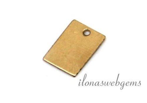 14k / 20 Gold gefülltes Etikett um 9x6mm
