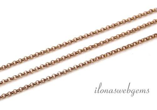 10cm 14k/20 Rosé gold filled jasseron ketting / schakels