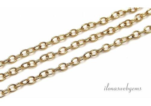 1cm 14k / 20 Gold gefüllt Kette / Links