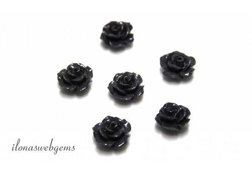 Koraal roosje grijs ca. 10mm (kraal)