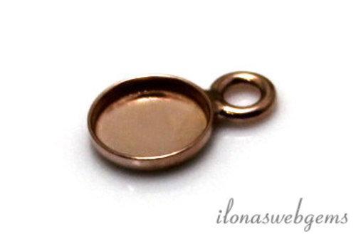 Rose vermeil pendant for cabochon 6mm