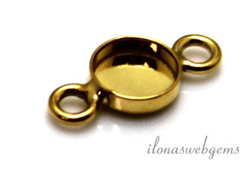 Vermeil connector for cabochon 6mm