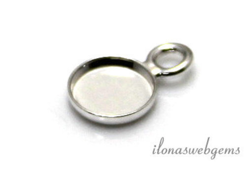 Sterling silver pendant for cabochon 8mm