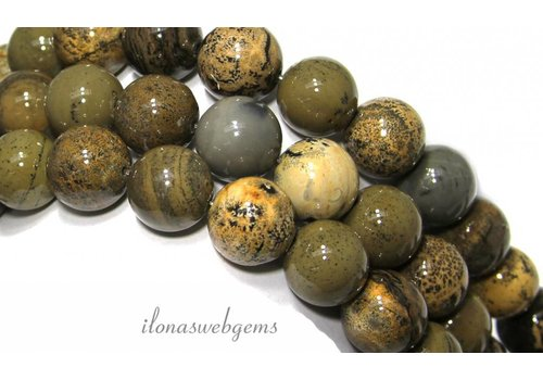 Arctic Jasper beads ca.14mm