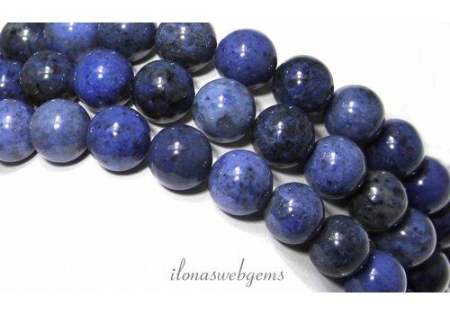 Dumortierite beads around 10mm