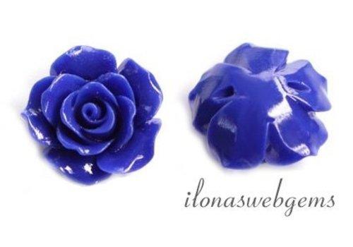 Koraal roosje kraal kobalt