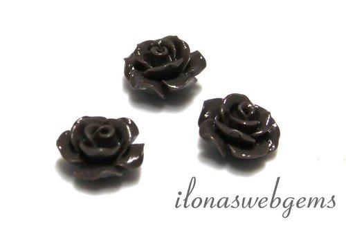 Koraal roosje ca. 10x6mm  (kraal)